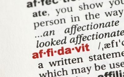 Affidavits – What Are They And Do They Protect You?